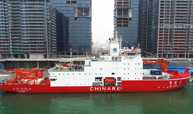 China Focus: China's first homegrown polar icebreaker to start its maiden voyage